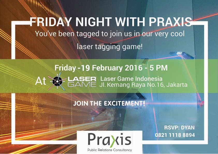 Laser Tag Battle with Praxis – Plan, Play, Survive, (no need to) Win & be (your own version) Victor!